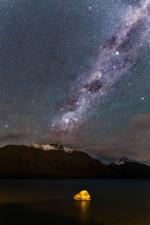 ニュージーランドの天の川。満天の星が綺麗な画像1枚